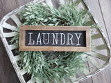 FREE SHIPPING!!!   Wood Sign  I  Laundry wood sign  I  Laundry decor  I  Laundry sign  I  Mini wood sign  I  Home decor  I  wall hangings  I  signs  I  Laundry