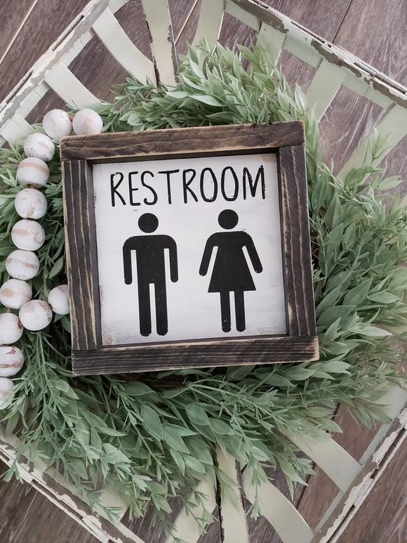 FREE U.S. SHIPPING!!!   Restroom wood sign  I  Bathroom decor  I  Bathroom sign
