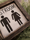 FREE SHIPPING!!!   Restroom wood sign  I  Bathroom decor  I  Bathroom sign  I  Mini wood sign  I  Restroom  I  wall hanging  I  sign  I  Bathroom