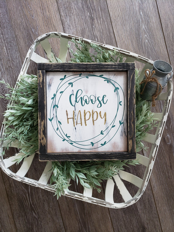 FREE SHIPPING!!!   Choose happy wood sign  I  Choose happy  I  bathroom sign  I  bathroom decor  I  wood sign  I  wood decor  I  wall hangings  I  wall art
