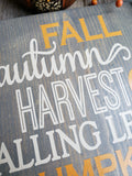 FREE U.S. SHIPPING!!!   Fall wood sign  I Autumn home decor  I  Fall Autumn Harvest  I  Fall signs