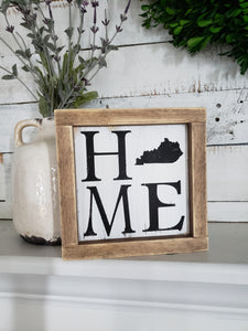 FREE SHIPPING!!!  Home wood sign  I  Kentucky  I  housewarming gift  I  Kentucky home