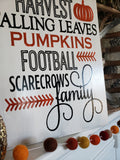 FREE SHIPPING!!!   Fall wood sign  I   Autumn home decor  I  scarecrows  I   football  I  fall decor  I  fall