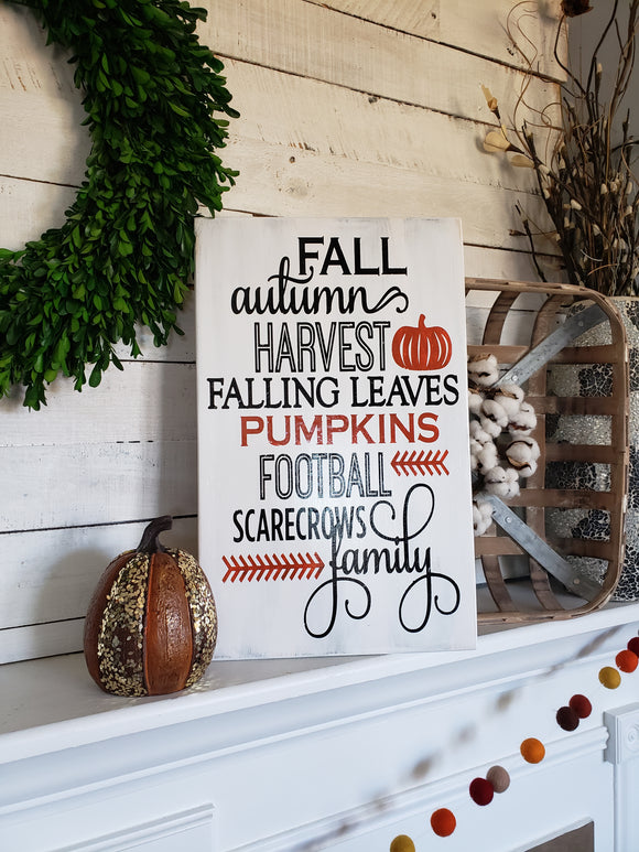 FREE U.S SHIPPING!!!   Fall wood sign  I   Autumn home decor  I  scarecrows