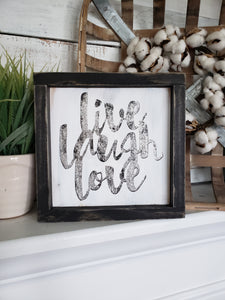 FREE U.S. SHIPPING!!!   Live Laugh love wood sign  I  Home decor