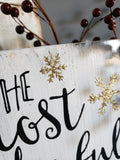 FREE U.S. SHIPPING!!!  It's the most wonderful time of the year sign  I  Christmas sign