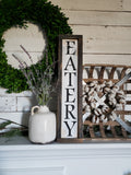 FREE U.S. SHIPPING!!!  Eatery wood sign  I  Eatery  I  Eatery sign