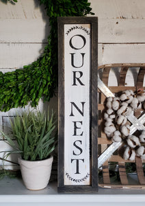 FREE U.S. SHIPPING!!!!     I   Our nest I  Front porch decor  I  porch sign