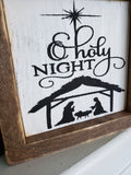 FREE U.S. SHIPPING!!!   O Holy night wood sign  I Christmas decor  I  O Holy Night