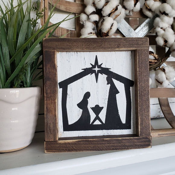 FREE U.S. SHIPPING!!!   Nativity sign  I  Manger scene