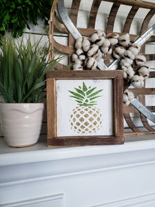 FREE U.S. SHIPPING!!!   Pineapple wood sign  I  Pineapple  I  wood sign
