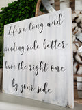 FREE U.S. SHIPPING!!!   Life's a long and winding ride  I  Wedding signs