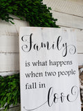 FREE SHIPPING!!!   Blended family wood sign  I  Wedding gift  I  weddings  I  Blended family gift  I  Wood signs  I  Home decor