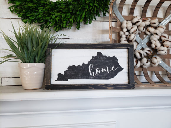 FREE SHIPPING!!!   Kentucky wood sign  I  home sweet home  I  Home sign  I  Home Decor  I  Kentucky