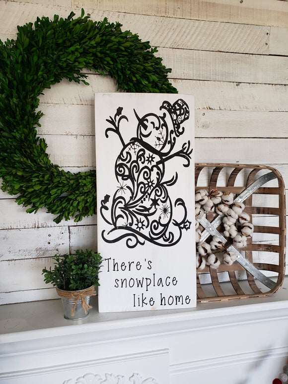 FREE SHIPPING!!!  Snowman wood sign  I  Snowman decor  I  Rustic snowman  I  winter sign
