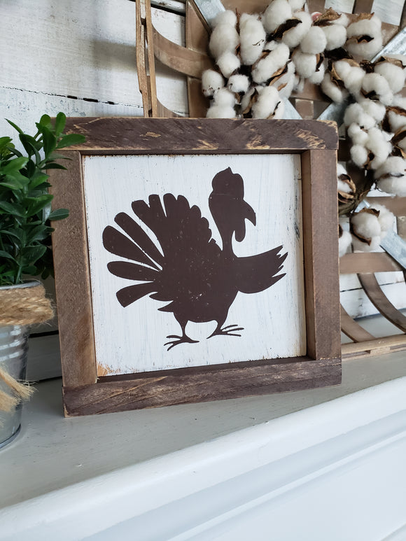 FREE U.S. SHIPPING!!!   Turkey wood sign  I  Thanksgiving sign