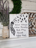 FREE SHIPPING!!!  Your wings were ready wood sign  I  Memorial sign  I  In loving memory  I  Sympathy  gift