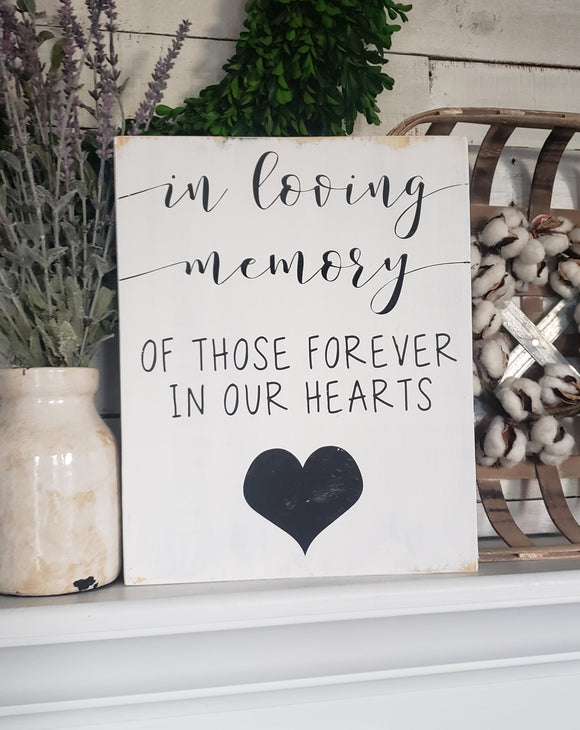 FREE U.S. SHIPPING!!!  In loving memory  I   memorial sign  I  memorial