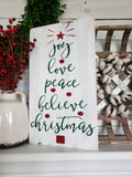 FREE SHIPPING!!!   Joy Love Peace Believe Christmas sign  I Christmas decor  I  Christmas sign