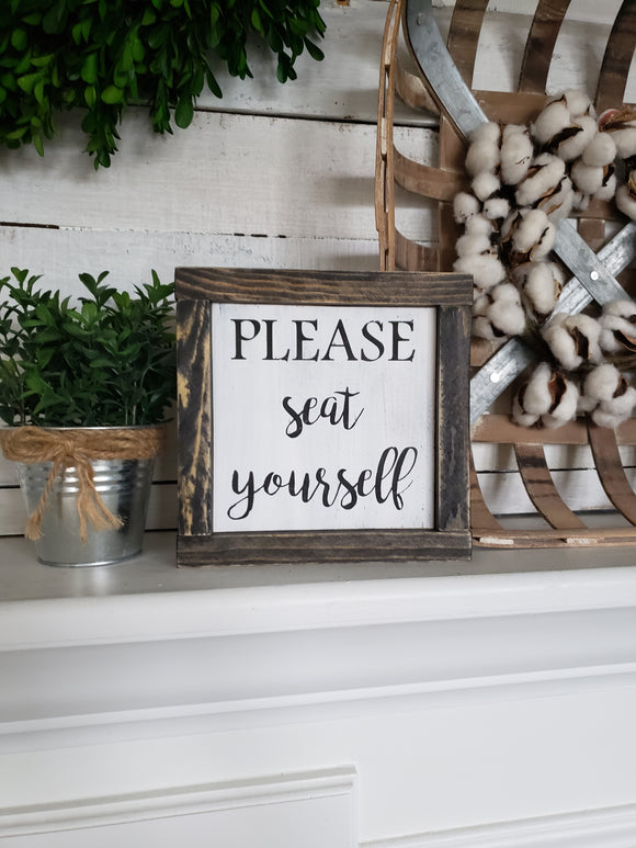 FREE U.S. SHIPPING!!!  Please seat yourself sign  |  Bathroom Wall Decor