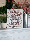 FREE U.S. SHIPPING!!!  Valentine wood sign  I  Valentine decor