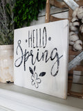 FREE U.S. SHIPPING!!!   Hello Spring wood sign I   Spring decor  I  Spring sign