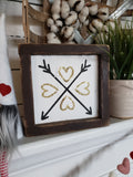 FREE U.S. SHIPPING!!!   Arrow wood sign  I  Valentine sign