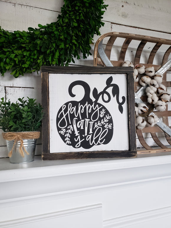 FREE U.S. SHIPPING!!!  Happy Fall Y'all wood sign  I  Happy Fall  I  Happy Fall Y'all