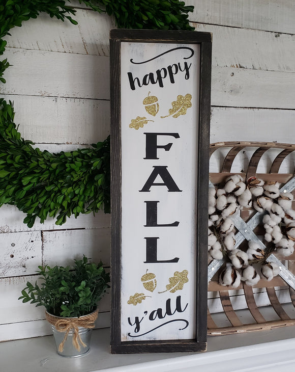 FREE U.S. SHIPPING!!!!  Happy Fall Y'all porch sign  I  Happy Fall sign