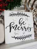 FREE SHIPPING!!!  Be Merry wood sign  I  Be Merry  I  Christmas  I  Christmas sign  I  Christmas decor