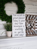 FREE U.S. SHIPPING!!!   You're off to great places sign  I    Nursery sign