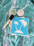 Kid take and make kits.  (PALM TREES)  Birthday parties, painting, paint kits, kid kits
