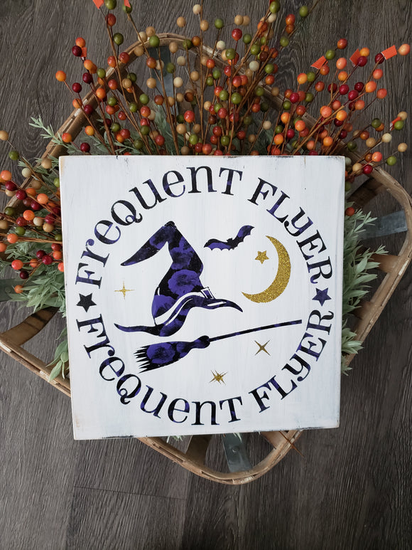 FREE U.S. SHIPPING!!! Frequent Flyer Wood sign  I  Halloween sign