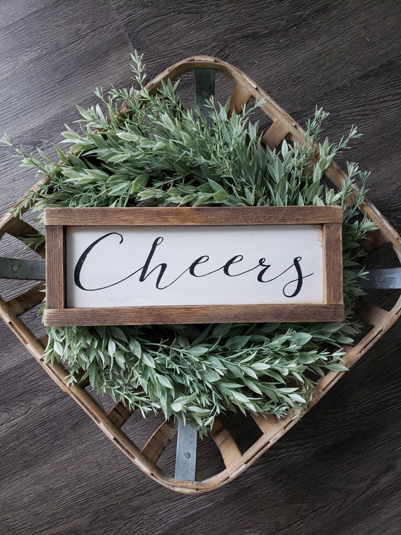 FREE U.S. SHIPPING!!!   Wood Sign  I  Cheers wood sign  I  Wedding decor