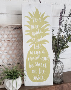 FREE U.S. SHIPPING!!!   Pineapple wood sign  I  Pineapple  I  Pineapple decor