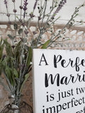 FREE U.S. SHIPPING!!!  A perfect marriage  I  Wedding wood sign  I  Anniversary