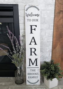 FREE U.S. SHIPPING!!!  Welcome to our farm wood sign