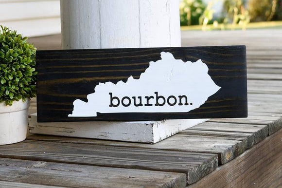 FREE U.S. SHIPPING!!!   Kentucky Bourbon wood sign  I  Kentucky  I  Kentucky sign