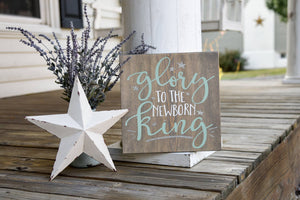 FREE SHIPPING!!!   Glory to the newborn king wood sign I  Christmas  I  Christmas sign  I  Seasonal decor
