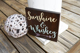 FREE U.S. SHIPPING!!!   Sunshine and Whiskey wood sign  I  Sunshine sign