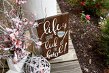 Life is short lick the bowl wood sign  I  Kitchen sign I  Kitchen decor I  Kitchen I  Wood kitchen sign