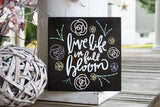 FREE U.S. SHIPPING!!!  Live life in full bloom wood sign  I  Wood sign