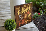 FREE U.S. SHIPPING!!!   Football and Fall y'all wood sign  I  Football sign