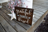 FREE U.S. SHIPPING!!!  Grateful Thankful Blessed wood sign  I Grateful sign