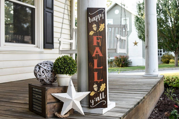 Happy Fall Y'all porch sign  I  Happy Fall sign  I  fall sign  I fall  I fall decor