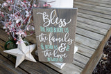 FREE U.S. SHIPPING!!!   Bless the food before us wood sign  I  Prayer sign