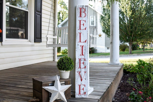FREE SHIPPING!!!    Believe porch sign  I  Believe  I  Believe sign I  Christmas porch sign  I Chirstmas  I Christmas sign