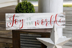 FREE SHIPPING!!!   Joy to the world rustic pallet sign  I  Christmas  I  Christmas sign  I Christmas decor