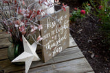 FREE SHIPPING!!!   Kiss me under the light of a thousand stars wood sign  I  Wedding sign  I  Wedding decor