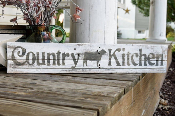 FREE U.S. SHIPPING!!!   Country kitchen rustic wood sign